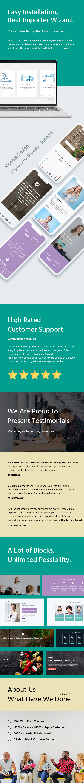 business education wordpress website landing page theme