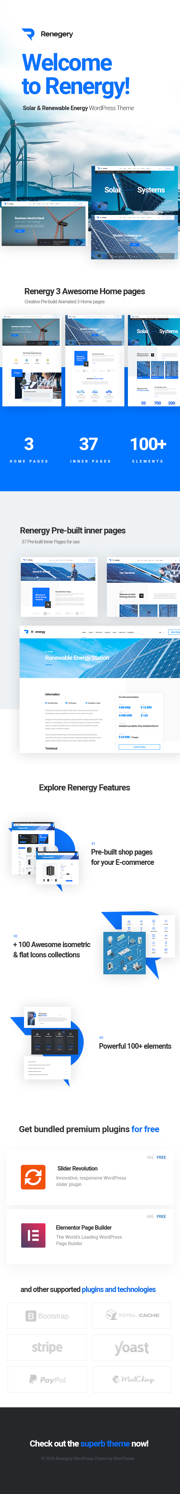 renergy - WordPress solar Energy Theme