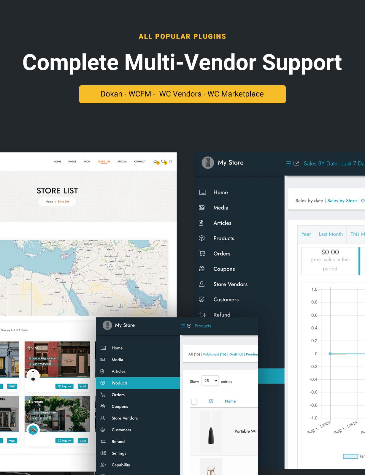 WordPress WooCommerce Multi Vendor
