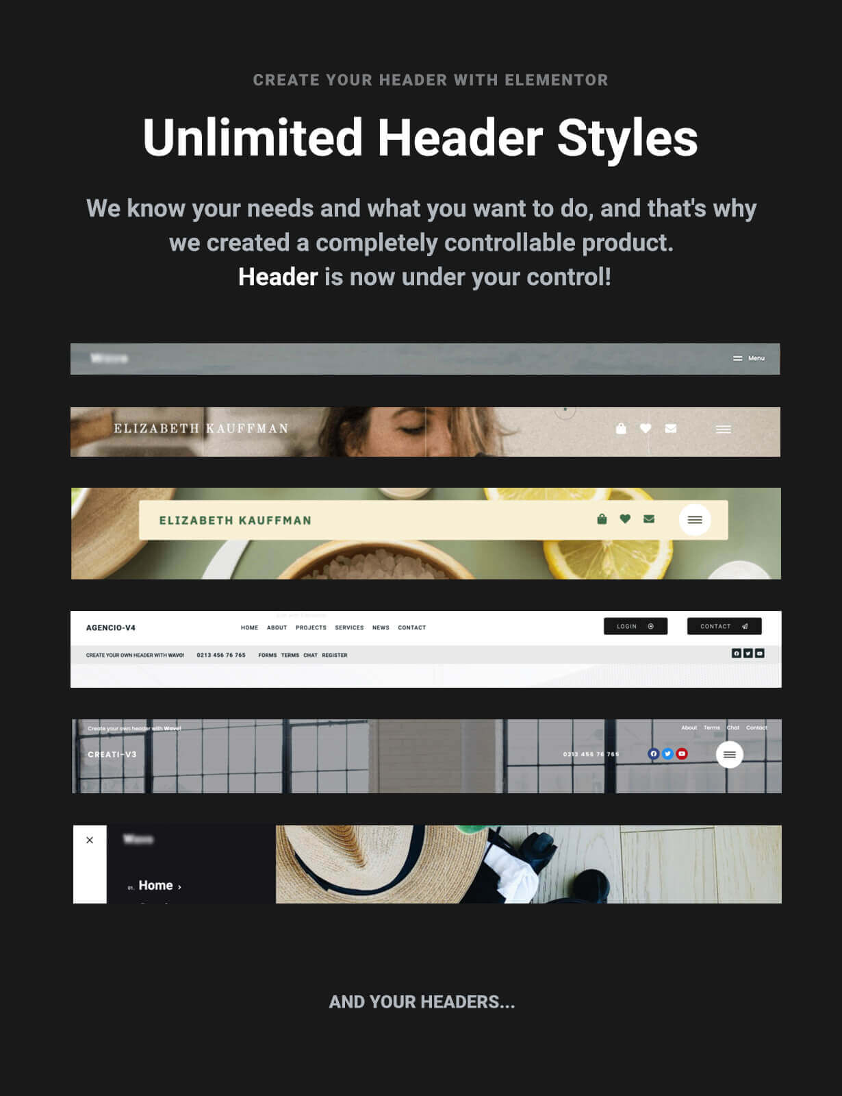WordPress Elementor Header Footer Builder