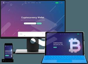 crypterium bitcoin ico landing page theme