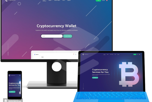 Crypterium – ICO Landing Page WordPress  Cryptocurrency Bitcoin Theme