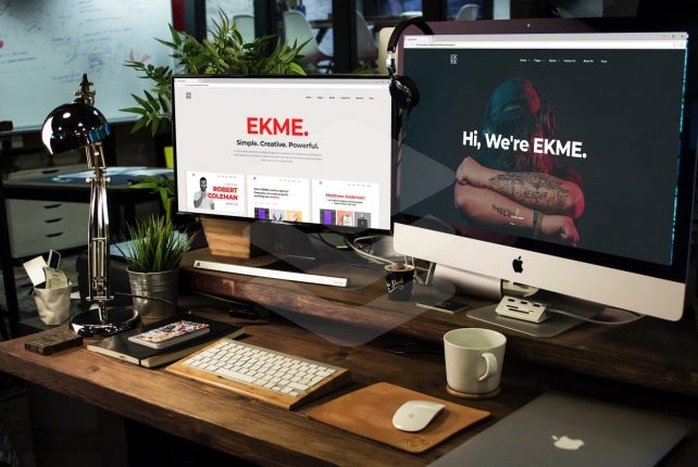 Ekme – One Page WordPress Portfolio Landing Pages Theme