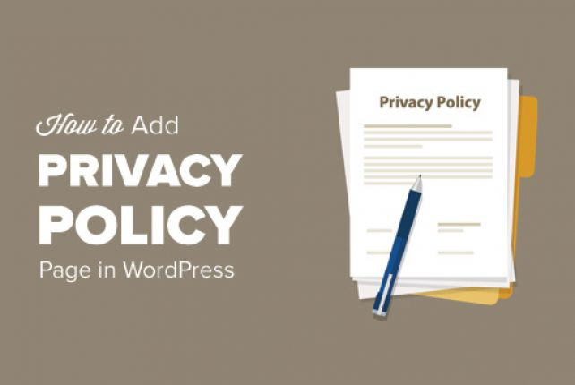 Add Privacy Policy in WordPress Website