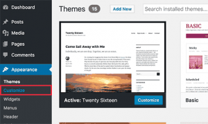 wordpress customize css