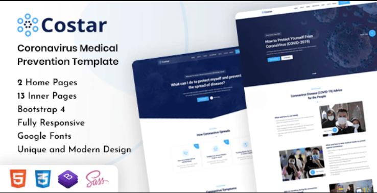 Costar - Coronavirus (COVID-19) Medical Prevention HTML Template