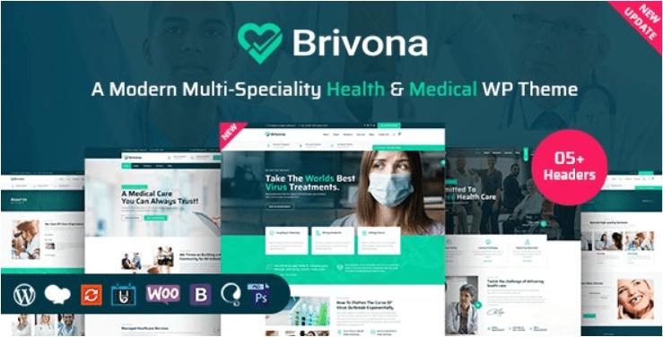 Coronavirus,Medical, Health and Hospital WordPress Theme