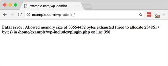 Memory Exhausted Error in WordPress