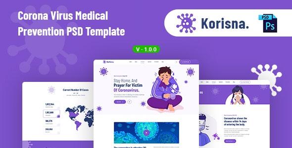 Korisna - Medical Prevention PSD Template