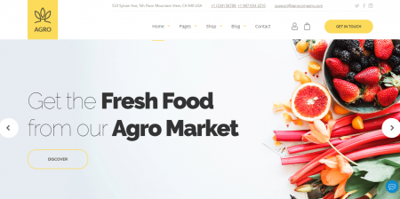 High Downloaded Organic Food & Agriculture WordPress Theme