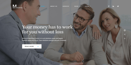 Best Rated Business and Financial WordPress Theme