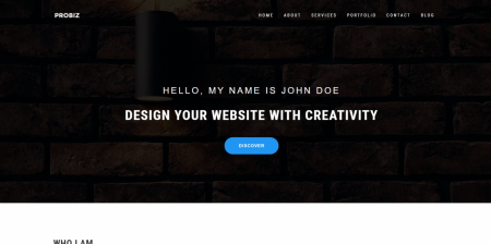 Best Rated Personal Minimalist Portfolio Theme