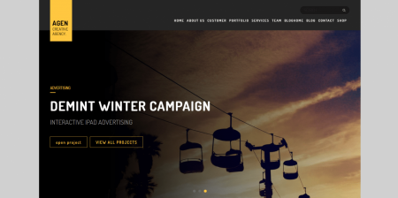 Best Rated WordPress Boxed Creative Theme