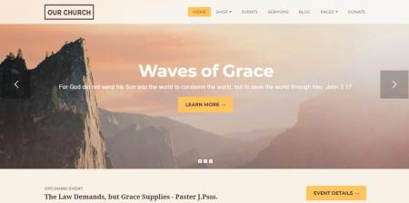 Best Rated WordPress Churches Theme