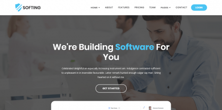 Softing - WordPress Software Landing Page Theme
