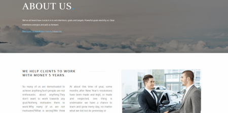 Recommended Business and Financial WordPress Theme