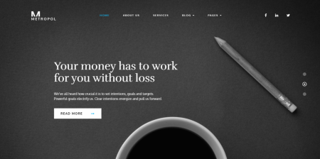 Newest Business and Financial WordPress Theme