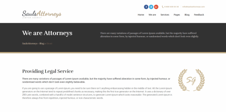 Recommended Lawyer & Attorney WordPress Theme