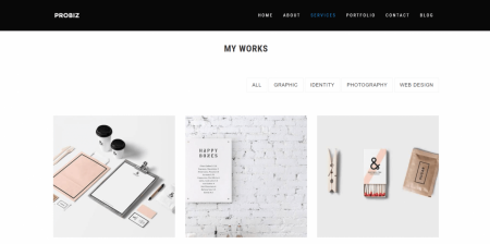 High Downloaded Personal Minimalist Portfolio Theme