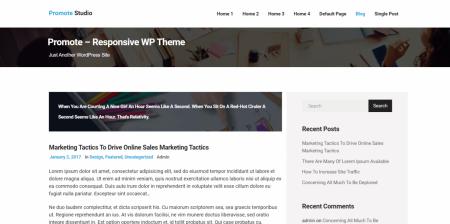 Popular WordPress Marketing Theme