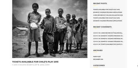 Newest Charity WordPress Theme