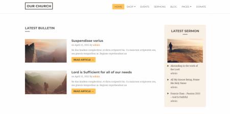 Popular WordPress Churches Theme