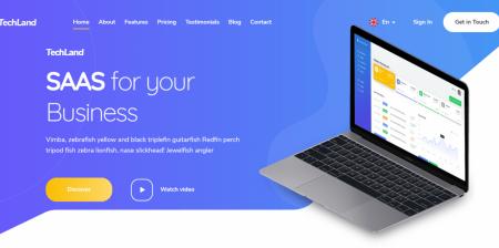 High Downloaded WordPress Saas Startup Theme